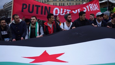 German Protesters - Syria