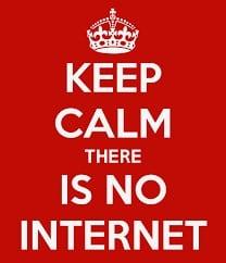 Keep Clam, No Internet