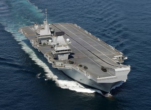 The Aircraft Carrier Queen Elizabeth
