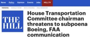 Committee Hearing 737 Max