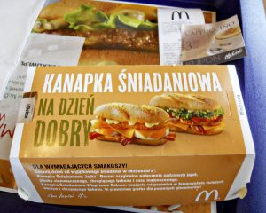 Polish McDonalds Breakfast