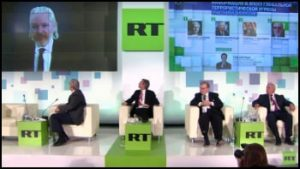 RT Television with Assange