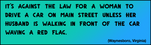 Flag & car law