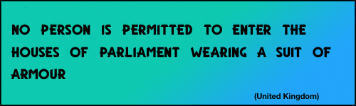no suit in Parliament