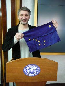 Sergey & AK Flag