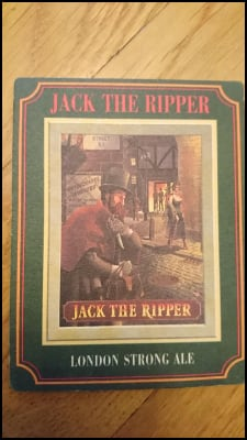 Jack the Ripper Beer Mat