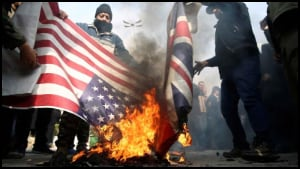 Buring UK & US Flage
