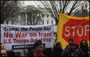 Protest in the US over Iran/War