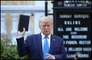 Trump holding Bible