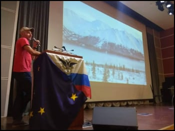 Sergey Delivers Talk on Alaska