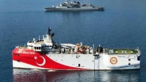 Turkish ship looking for gas