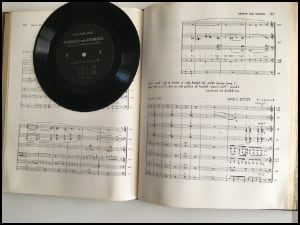 Inside of a Henry Mancini Scores book