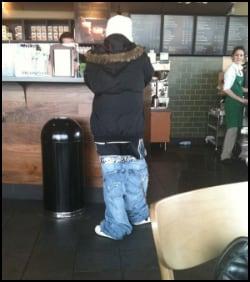 Saggy Pants in Restaurant