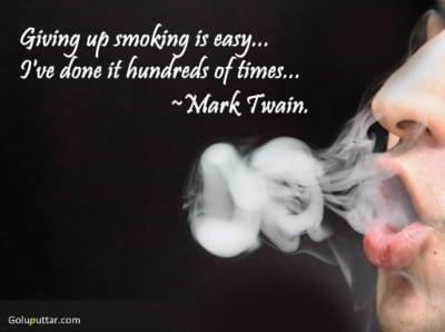 Mark Twain Quote - Smoking