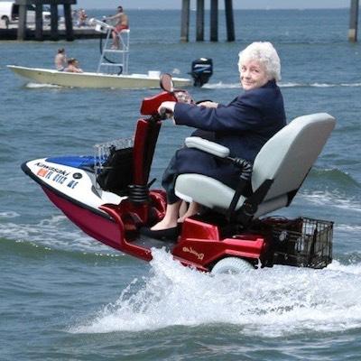 Granny on a Jet Ski