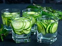cucumber with water