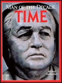 Mikhail Sergeyevich Gorbachev Time Magazine Cover