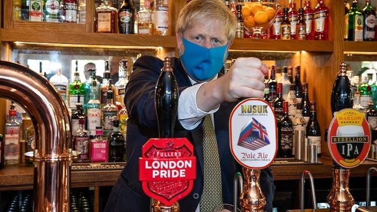 Boris Johnson in Pub