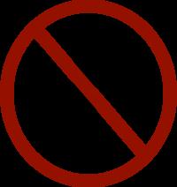 """No Hang - noose with """"no"""" symbol"""