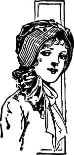 Girl wearing bonnet