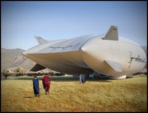 Airship on ground