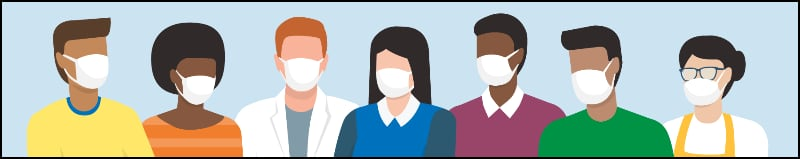 Clipart - People wearing mask